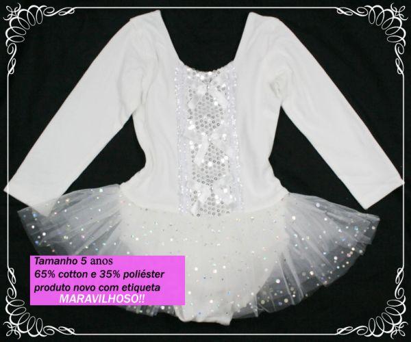 3eaea62779 Loja de vestido infantis importados. Roupa de Ballet - collant + tutu - 5  anos